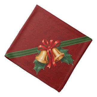 Weihnachten Bell und Stechpalmen-Blätter rot Halstuch