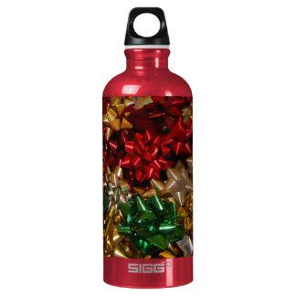 Weihnachten beugt bunten festlichen Feiertag Aluminiumwasserflasche