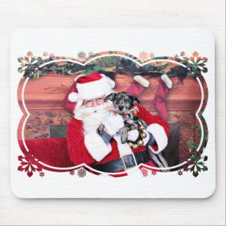 Weihnachten - blaues Heeler - B Elana Mousepad