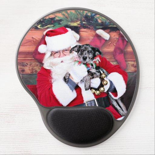 Weihnachten - blaues Heeler - B'Elana Gel Mouse Matte