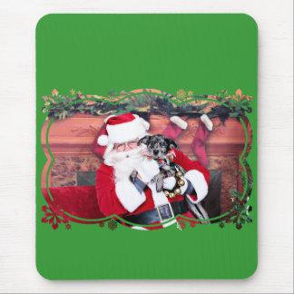 Weihnachten - blaues Heeler - B'Elana Mousepads