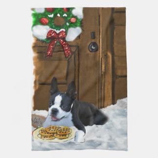 Weihnachten Bostons Terrier Handtuch