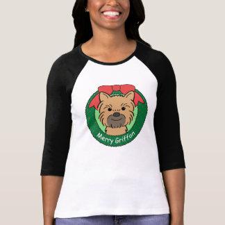 Weihnachten Brüssels Griffon T-Shirt