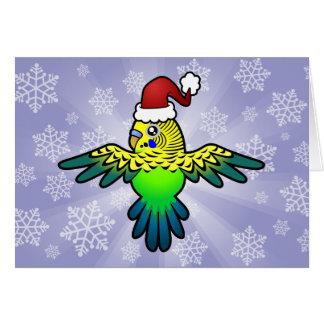 Weihnachten Budgie Karte
