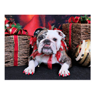 Weihnachten - Bulldogge - Delilah Postkarten