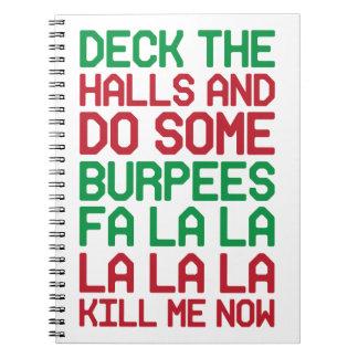 Weihnachten Burpees Spiral Notizblock