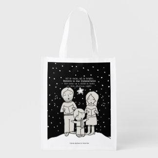 Weihnachten Caroling Wiederverwendbare Einkaufstasche