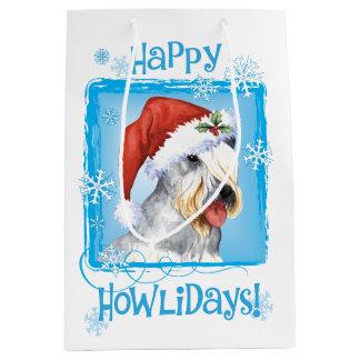 Weihnachten Cesky Terrier Mittlere Geschenktüte