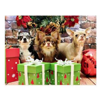 Weihnachten - Chihuahua - Blau - wertvoll - Yogi Postkarte