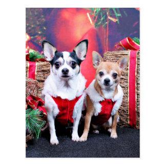 Weihnachten - Chihuahua - MOO-MOO und Ingwer Postkarten