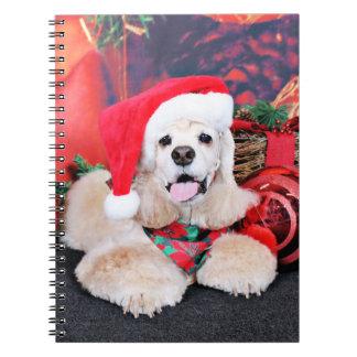 Weihnachten - Cocker spaniel - Tobey Notizblock