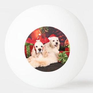 Weihnachten - Cockerspaniel - Toby, Havanese - Ping-Pong Ball