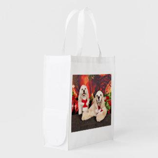Weihnachten - Cockerspaniel - Toby, Havanese - Wiederverwendbare Einkaufstasche