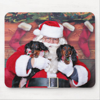 Weihnachten - Dackel - Mickey u. Madilyn Mauspad
