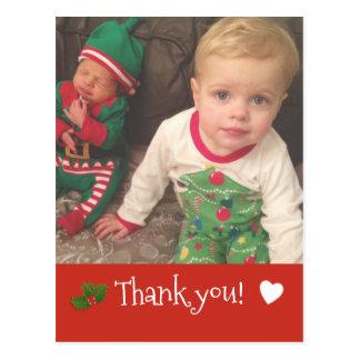Weihnachten danken Ihnen ~ Foto-Kartenrot Postkarten