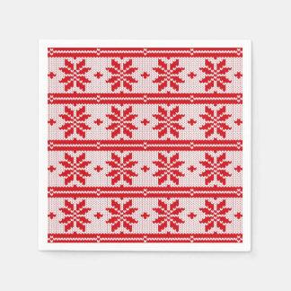 Weihnachten, das nahtloses Muster 1 strickt + Ihre Serviette