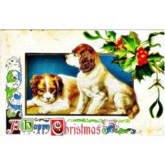 Weihnachten, das zwei Hunde grüßt Acryl Ausschnitte