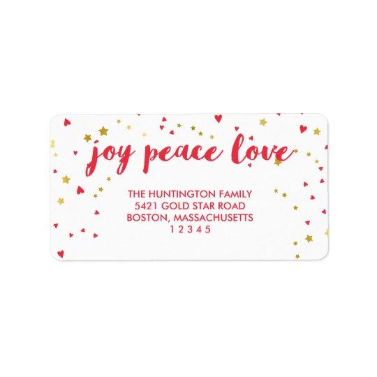 Weihnachten der Freude-FriedensLiebe-| Herz-u. der Adressaufkleber