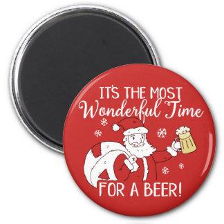 Weihnachten die meiste wunderbare Zeit für ein Runder Magnet 5,1 Cm