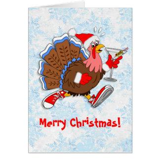 Weihnachten die Tipsy Türkei (Martini) Karte
