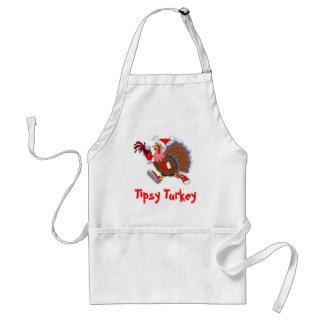 Weihnachten die Tipsy Türkei (Wein) Schürze