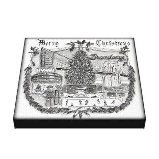 Weihnachten Druck New York 12 im Leinwand-X12 Leinwanddruck