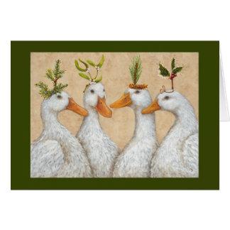 Weihnachten duckt Karte