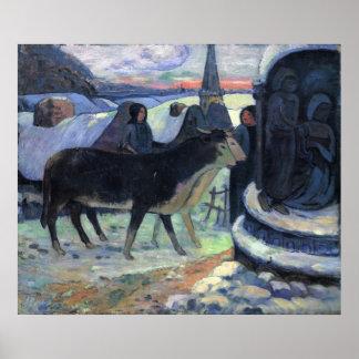 Weihnachten durch Eugène Henri Paul Gauguin Poster