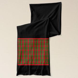 Weihnachten färbt kariertes Muster Schal