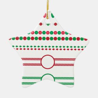 Weihnachten fasst Rahmenfeiertag ein Keramik Ornament