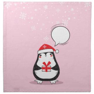 Weihnachten, Feiertage, Freude, grüne Farben, Stoffserviette