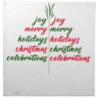 Weihnachten-Festlich-Baum Stoffserviette