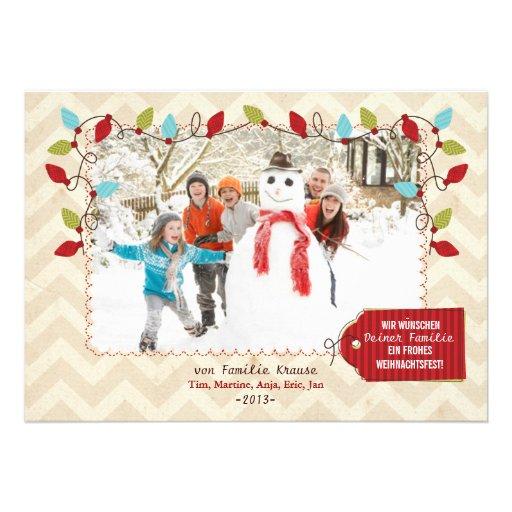 Weihnachten Foto-Karte Individuelle Einladungskarten