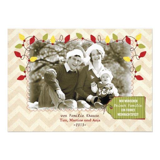 Weihnachten Foto-Karte Grußkarte Personalisierte Ankündigungskarten