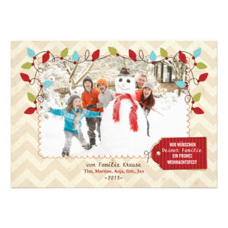 Weihnachten Foto-Karte Invite
