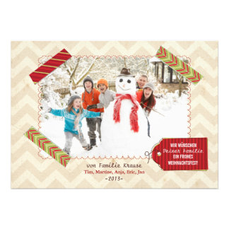 Weihnachten Foto-Karte Personalized Invite
