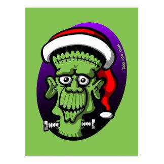 Weihnachten Frankenstein Postkarte