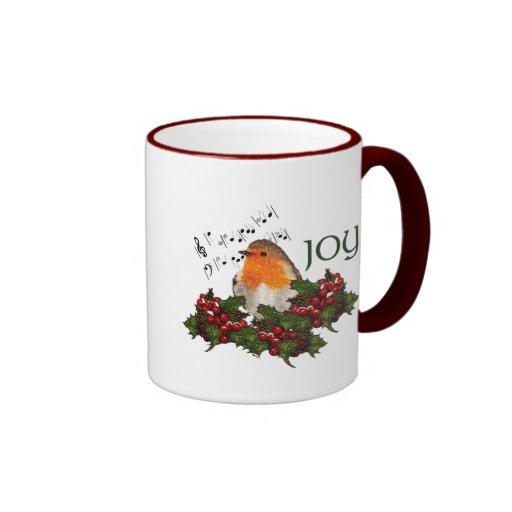 Tassen Englisch : Weihnachten freude englisch robin stechpalme be tee