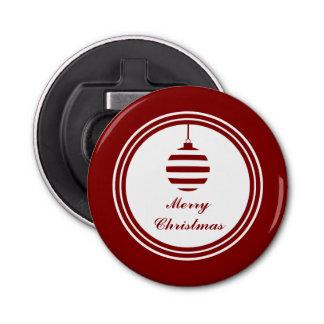 WEIHNACHTEN frohe Weihnacht-Feiertags-Flitter-Rot Runder Flaschenöffner