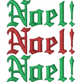 Weihnachten! Gestickter grundlegender ZipHoodie Kapuzenpulli