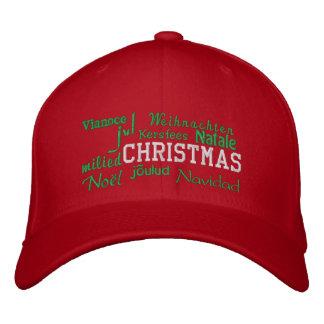 Weihnachten - gestickter Hut Bestickte Baseballmütze