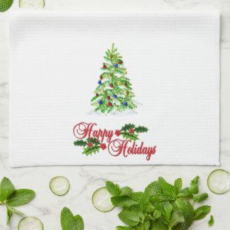 Weihnachten gesticktes Blick-Geschirrtuch Küchenhandtücher
