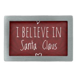 Weihnachten 'glauben an Weihnachtsmann-Zitat Rechteckige Gürtelschnallen