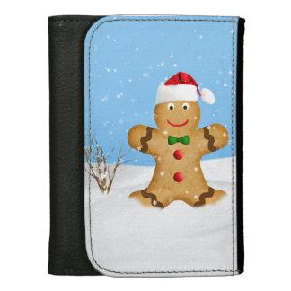 Weihnachten, glücklicher Lebkuchen-Mann im Schnee