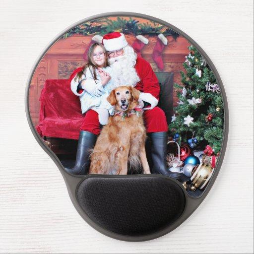 Weihnachten - golden retriever - Penny Gel Mouse Matte