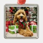 Weihnachten - GoldenDoodle - Claire Silbernes Ornament