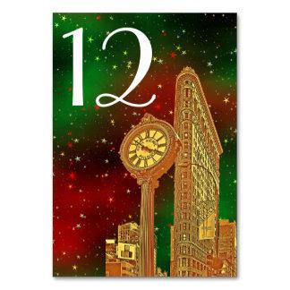 Weihnachten GoldFlatiron GebäudeNYC Skyline-#2 Karte