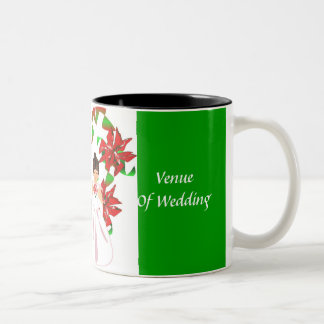 Weihnachten/grüne Polterabend-Tasse Dezembers Zweifarbige Tasse