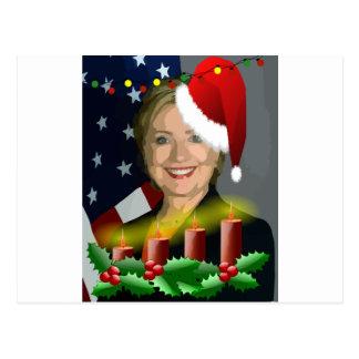 Weihnachten Hillary Clinton Postkarte