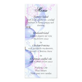 Weihnachten, Hochzeit, Winter-Menü Karte